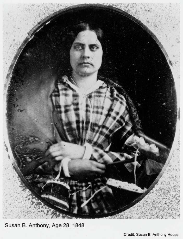 Susan B. Anthony, age 28, in 1848. Photo: Susan B. Anthony House / Handout