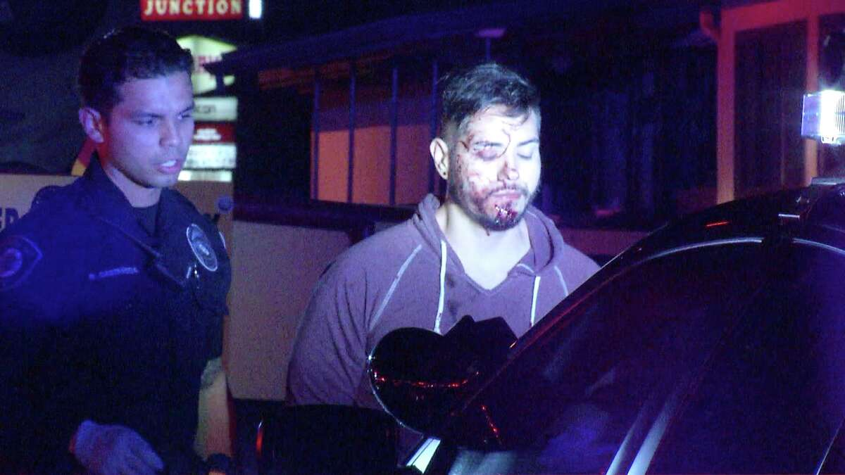 A man was arrested on suspicion of driving while intoxicated on June 28, 2019 after his car rolled over into a parking lot near Blanco and Loop 410.
