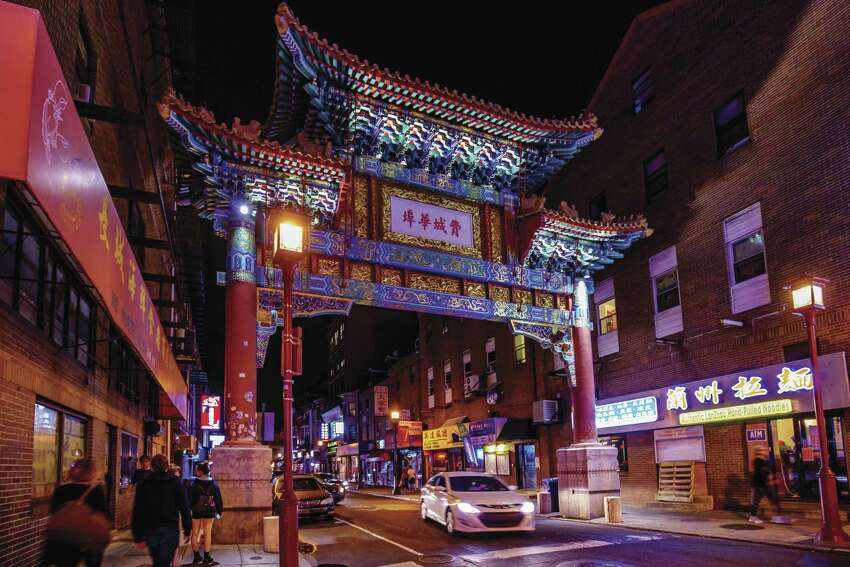 After passing under the 40-foot Chinese Friendship Gate, which underwent an artisan renovation in 2008, visitors to Philadelphia's Chinatown browse eclectic shops, enjoy neighborhood festivals and events and dine on delicious Chinese, Korean, Vietnamese, Thai and Burmese cuisine. (Photo by Visit Philadelphia)