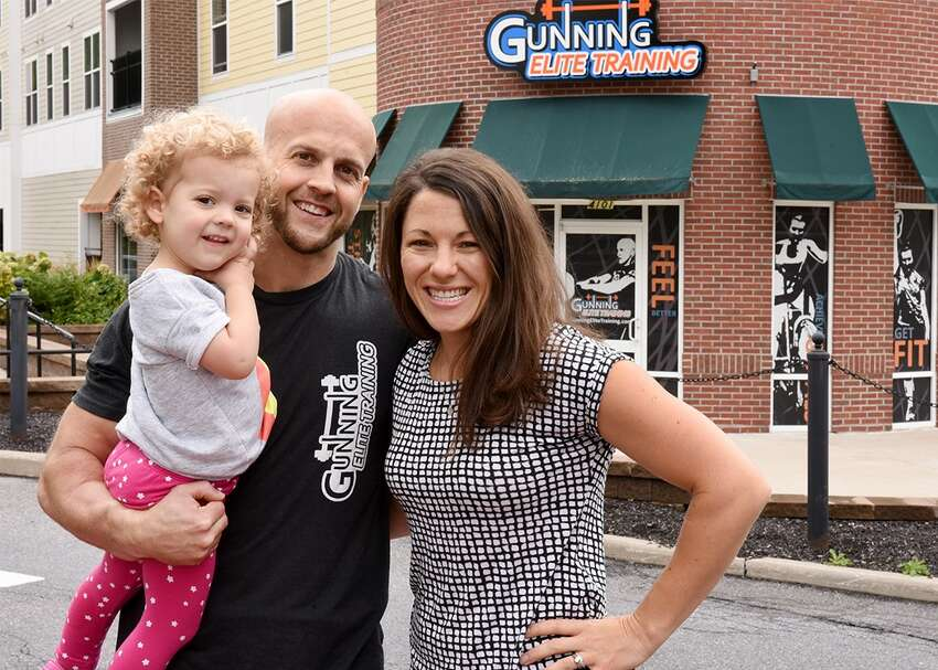 Casey Gunning, right, with her husband and her daughter Evie. (Provided)
