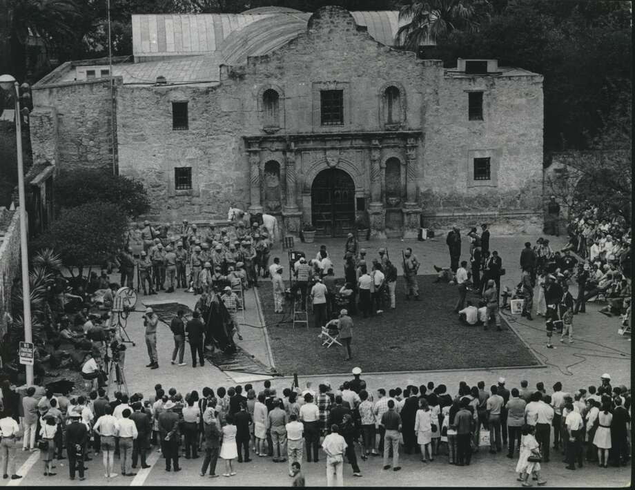 "If San Antonians don't have enough reason to remember the Alamo (after all, the thing is sitting there in the middle of downtown), some people came to town last Spring and made a movie called ""Viva Max!"", a comedy about a present-day Mexican army officer who, as kind of a public-relations gesture, takes some of his soldiers to San Antonio, Texas and does what Santa Anna couldn't:  Capture the place bloodlessly. Photo: Sam C. Pierson Jr./Houston Chronicle"