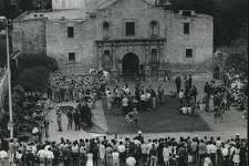 """If San Antonians don't have enough reason to remember the Alamo (after all, the thing is sitting there in the middle of downtown), some people came to town last Spring and made a movie called """"Viva Max!"""", a comedy about a present-day Mexican army officer who, as kind of a public-relations gesture, takes some of his soldiers to San Antonio, Texas and does what Santa Anna couldn't: Capture the place bloodlessly."""
