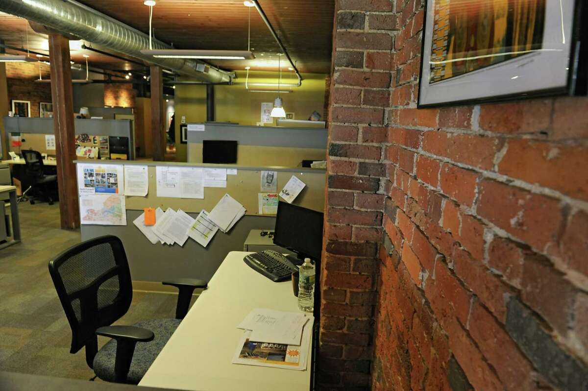 The Beahive, a coworking space located on Broadway on Wednesday, March 30, 2016 in Albany, N.Y. (Lori Van Buren / Times Union)