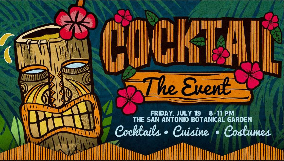 Tiki-themed event with cocktails takes over the San Antonio Botanical Garden in July.