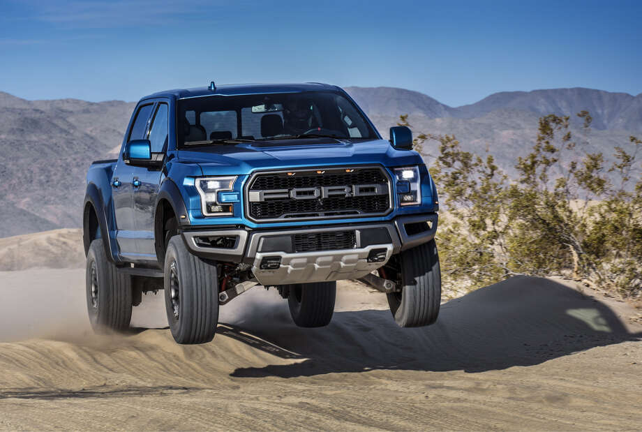 The F-150 Raptor has over 13 inches of suspension travel and, for 2019, new electronically controlled Fox shock absorbers. Photo: Ford