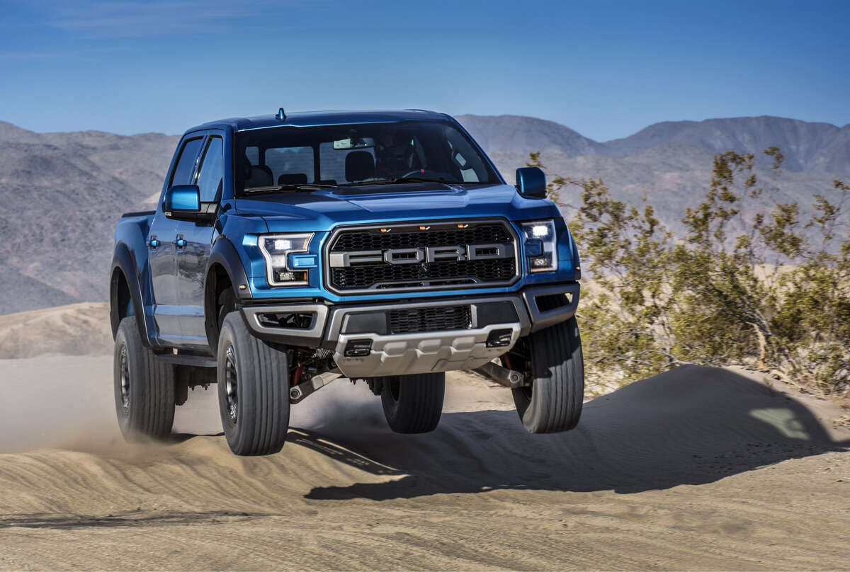 The F-150 Raptor has over 13 inches of suspension travel and, for 2019, new electronically controlled Fox shock absorbers.