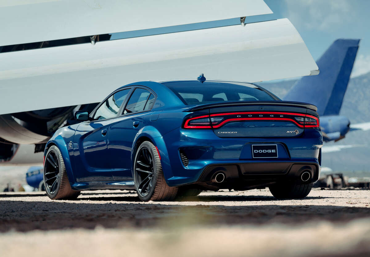 The Dodge Charger SRT Hellcat Widebody's flared fenders make it 3.5 inches wider than a regular Charger sedan. It generates a sports car-like .96 g on the skidpad.