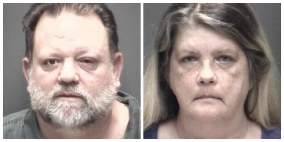 Gregory (left) and Josephine Goodnight were arrested June 20 and charged with securing a document through deception, court records show. Their bonds were set at $100,000 each. Photo: Galveston County Criminal District Attorney's Office