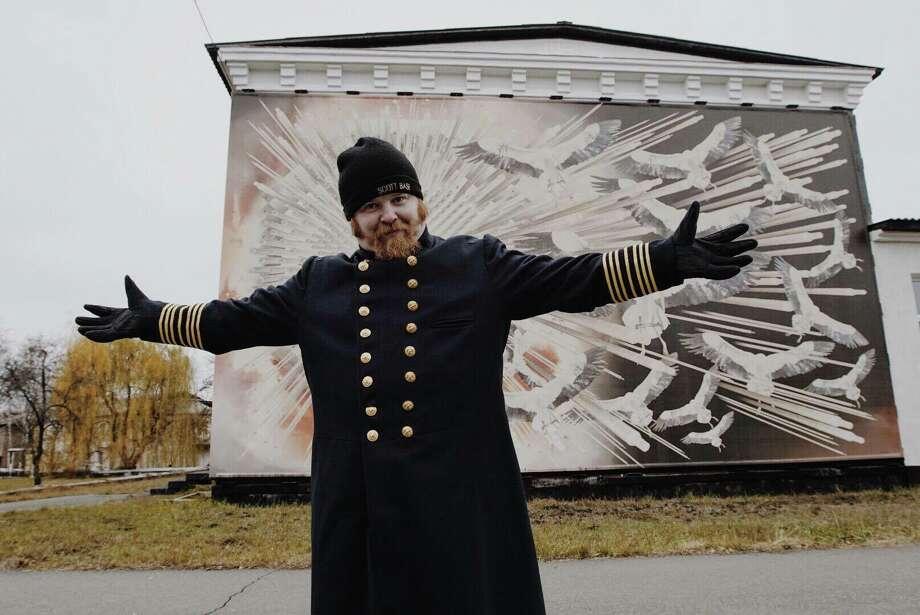 Phil Broughton in the town of Chernobyl in Ukraine. Photo: Robyn Von Swank