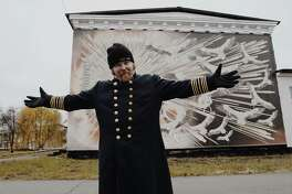 Phil Broughton in the town of Chernobyl in Ukraine.