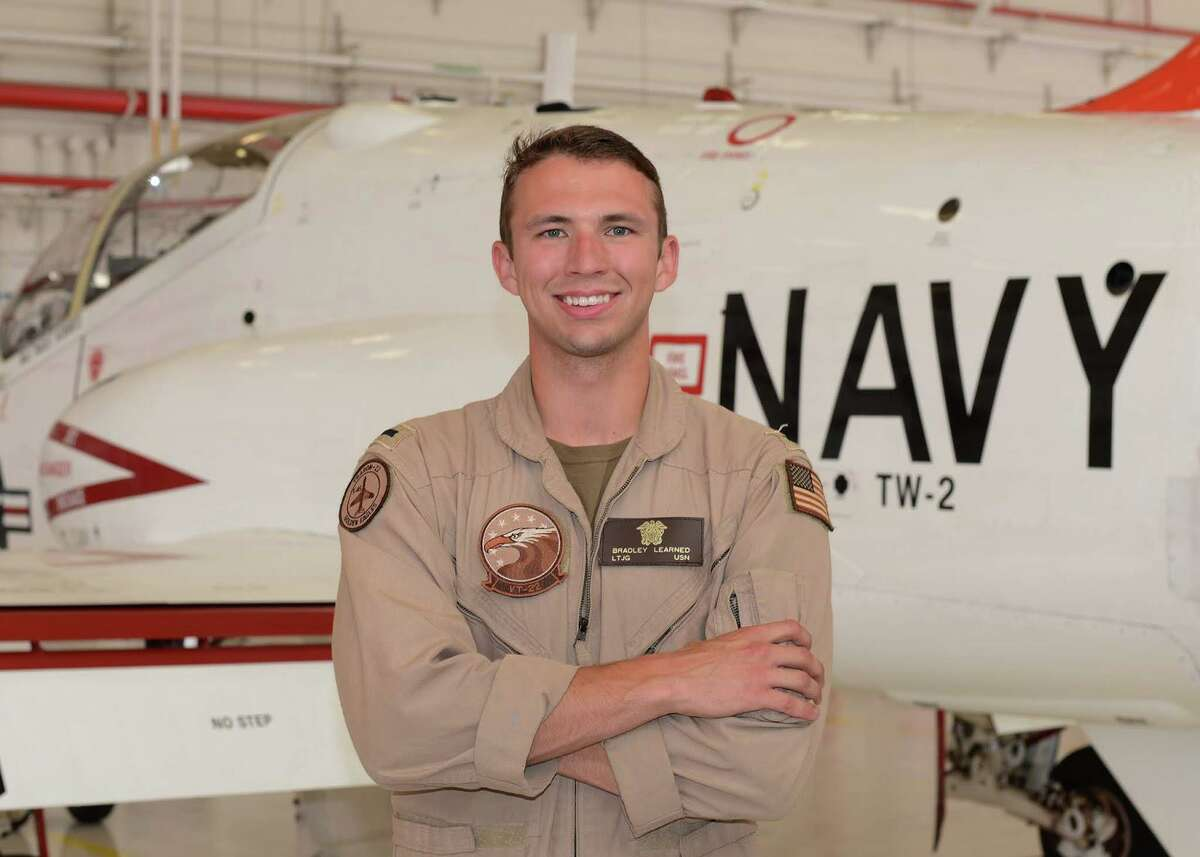 Lt. j.g. Bradley Learned, a2012 Cinco Ranch High School graduate and Katy native, is participating in a rigorous training process that transforms officers into U.S. naval aviators.