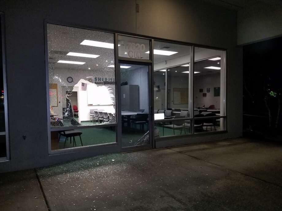 A 26-year-old man allegedly threw a knife through a window to break into a King County Sheriff's Office building on June 16. Photo: King County Sheriff's Office
