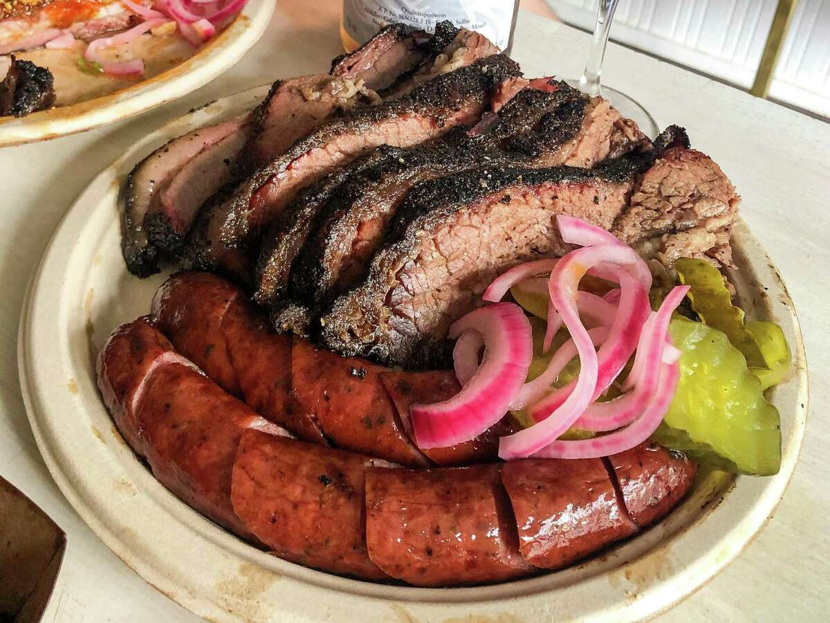 Brisket and sausage from Khoi Barbecue