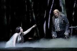 "Rachel Willis-S�rensen (l.) and Kristinn Sigmundsson in Dvor�k's ""Rusalka"" at SF Opera"