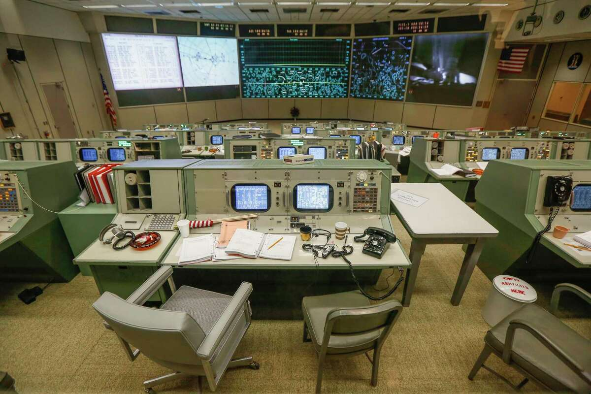 NASA Johnson Space Center and Space Center Houston unveiled the newly restored mission control room Friday, June 28, 2019, in Houston.