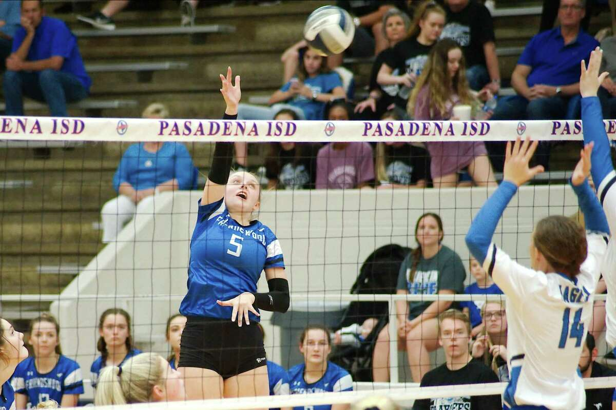 Friendswood's Ashlyn Svoboda (5) provides power for the Lady Mustang offense.