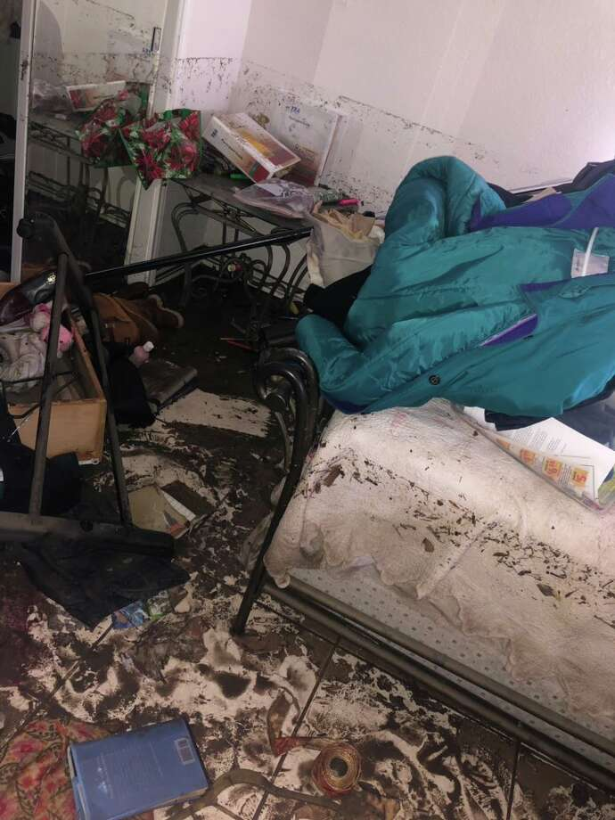 @hannululu tweeted photos Flood damage at her home. She set up a GoFundMe account to help pay for the repairs. Photo: Twitter: @hannululu