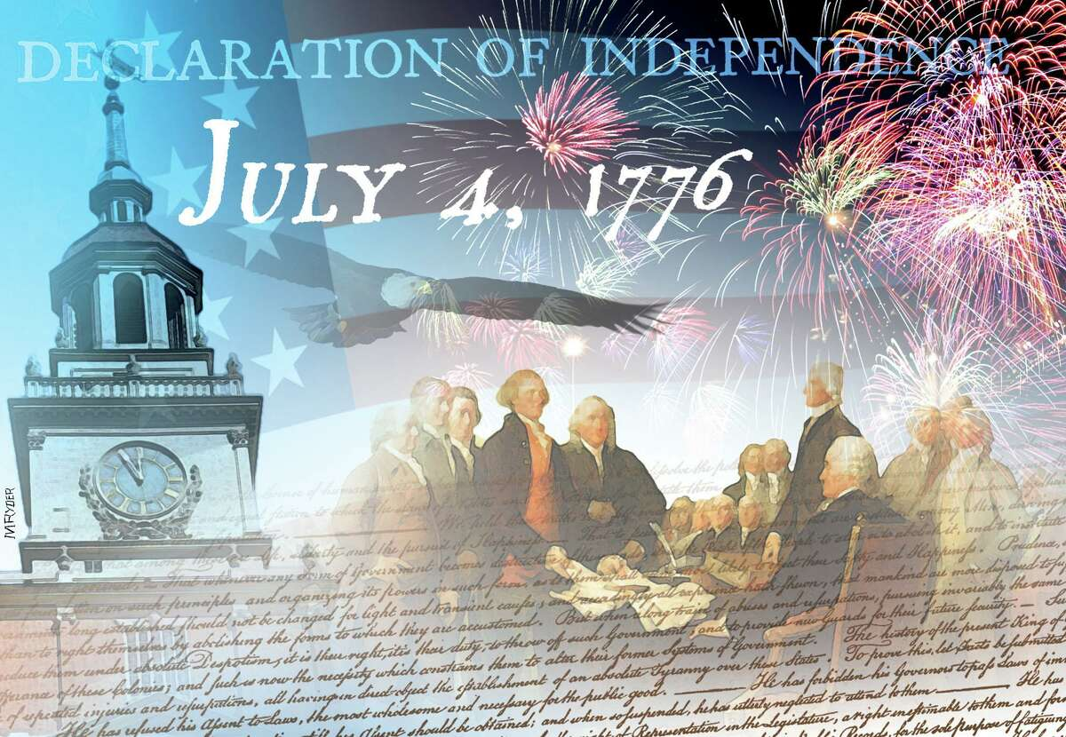 This artwork by M. Ryder refers to the Fourth of July.