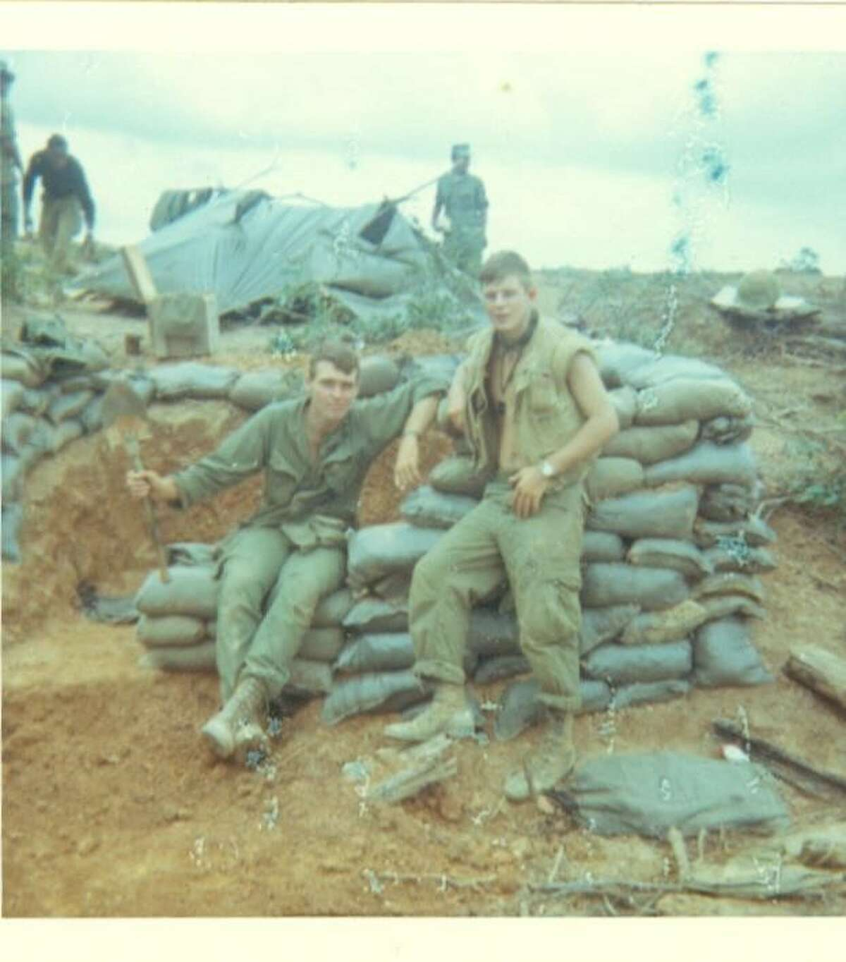 Terry Kindlon, left, in the Quang Tri Province, Vietnam in 1967. (Courtesy of Terry Kindlon)