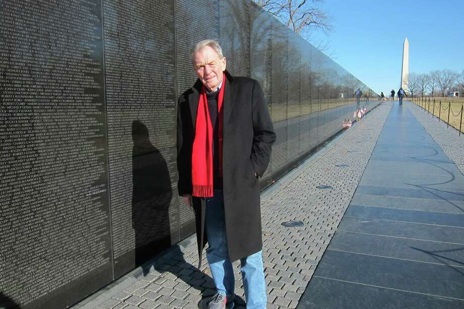 Terry Kindlon visited the Vietnam Memorial in Washington, DC in 2018, the 50th anniversary of when he was wounded in battle in Vietnam. (Courtesy of Terry Kindlon)