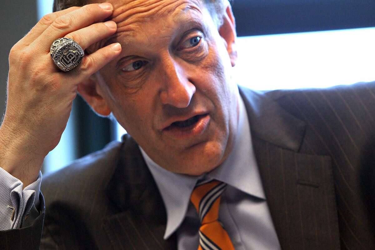 Giants CEO Larry Baer pictured Monday, May 4, 2015, in San Francisco, Calif.