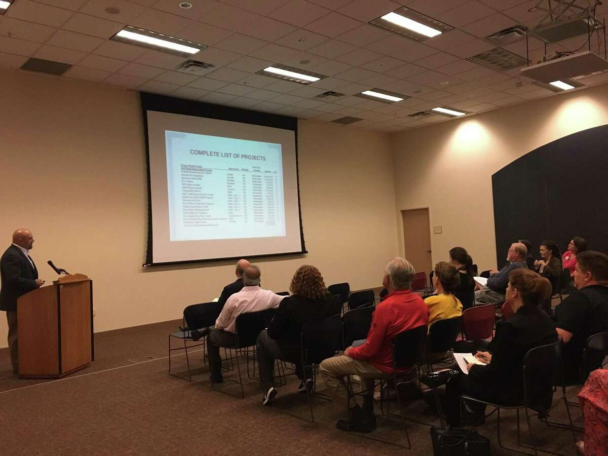 Chris Elam, Fort Bend County Precinct 3 manager intergovernmental relations, led a June 27 discussion with residents about a potential fall facilities bond referendum.