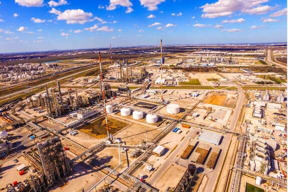 LyondellBasell complex in Bayport. After years of booming business, the petrochemical industry faces a slowdown.