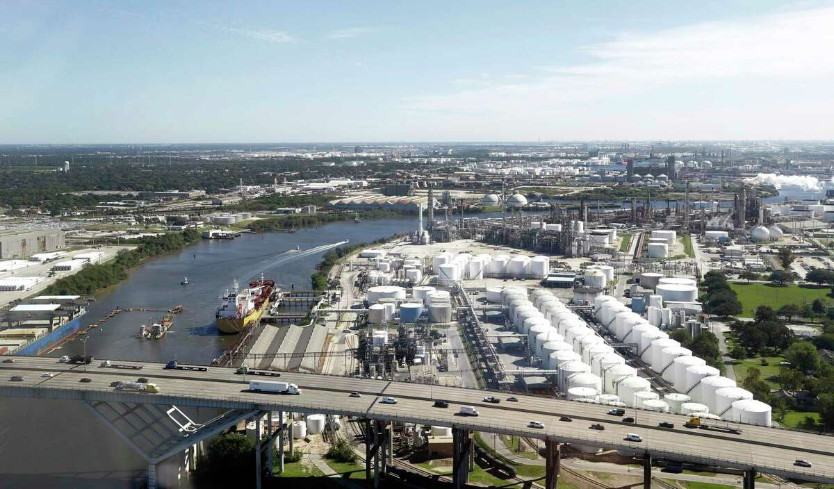 A view so Houston's sprawling petrochemical industry. After years of booming business, the petrochemical industry faces a slowdown.