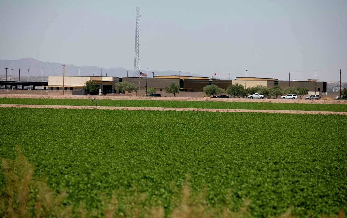 The U.S. Customs and Border Protection station where migrant kids were being held, in Clint, Texas, June 25. The Trump administration says it is transferring children back to the shelter, which had seen hundreds of children held in overcrowded and filthy conditions.