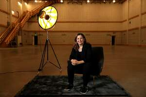 Susanne Daniels, YouTube's head of original content, inside the YouTube sound stage at the Spruce Goose hangar in Playa Vista, Calif. (Gary Coronado / Los Angeles Times/TNS)
