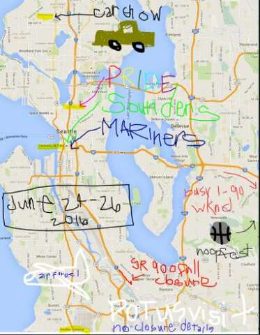 Take your crayon to work': WSDOT's MS Paint maps return for ... Seattle Traffic Map on seattle subway system route map, seattle demographics map, seattle to spokane map, seattle concourse map, seattle toll road map, seattle police map, seattle storm drain map, seattle airspace map, seattle climate map, seattle water supply map, seattle heat map, seattle mountain map, seattle airport location map, seattle highway map, seattle metro tunnel map, seattle walkability map, seattle express lanes map, seattle pride parade map, seattle street map with attractions,
