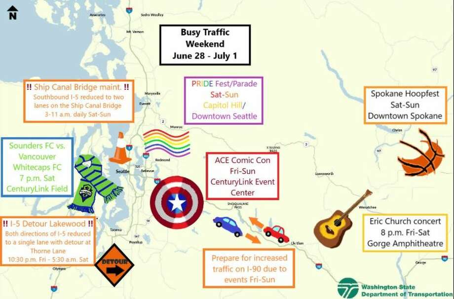 The most recent MS Paint map by WSDOT, released Friday, June 28, 2019. Photo: Courtesy WSDOT