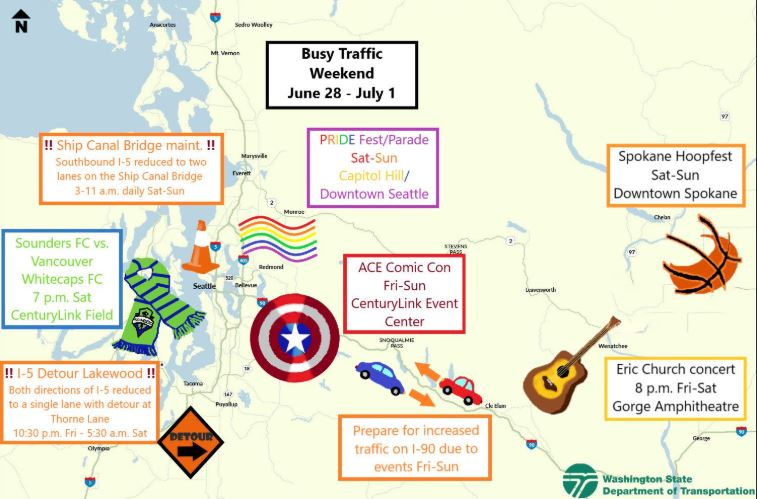 'Take your crayon to work': WSDOT's MS Paint maps return for Seattle summer traffic season
