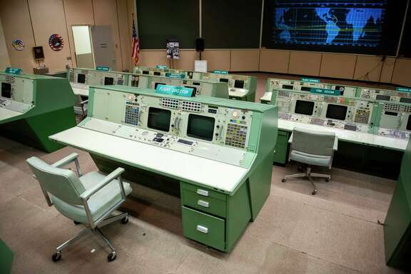 Mission Control at the NASA Johnson Space Center on May 15, 2014, in Houston.