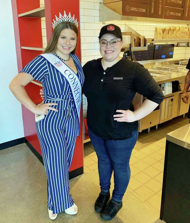 Chipotle Mexican Grill opened for business Wednesday at 808 Washington St., Middletown. General Manager Stirling Waldron, right, is shown with employee, Miss Teen United States, Alexis Volpe of Middletown. Photo: Contributed Photo