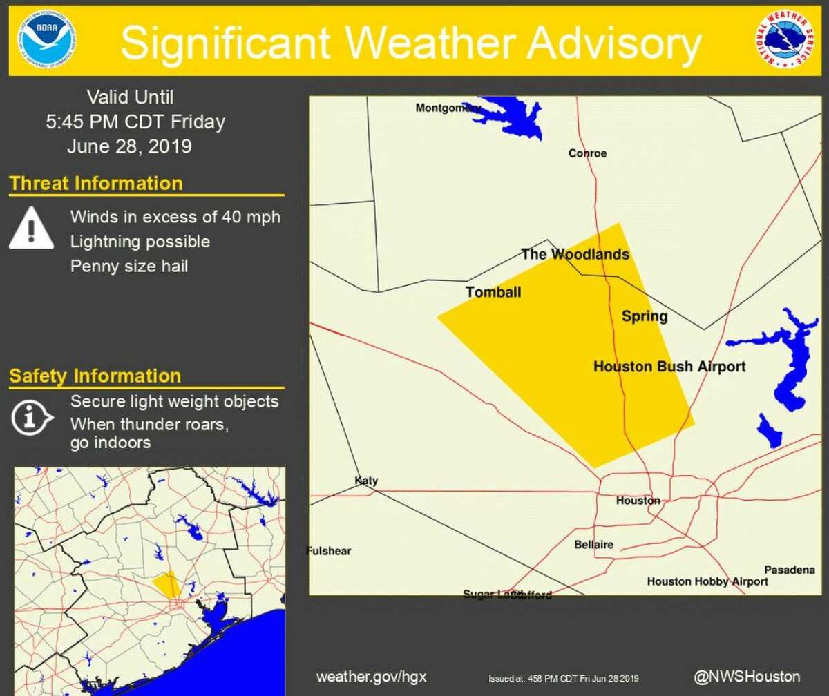 Weather Service Advisory for June 28.