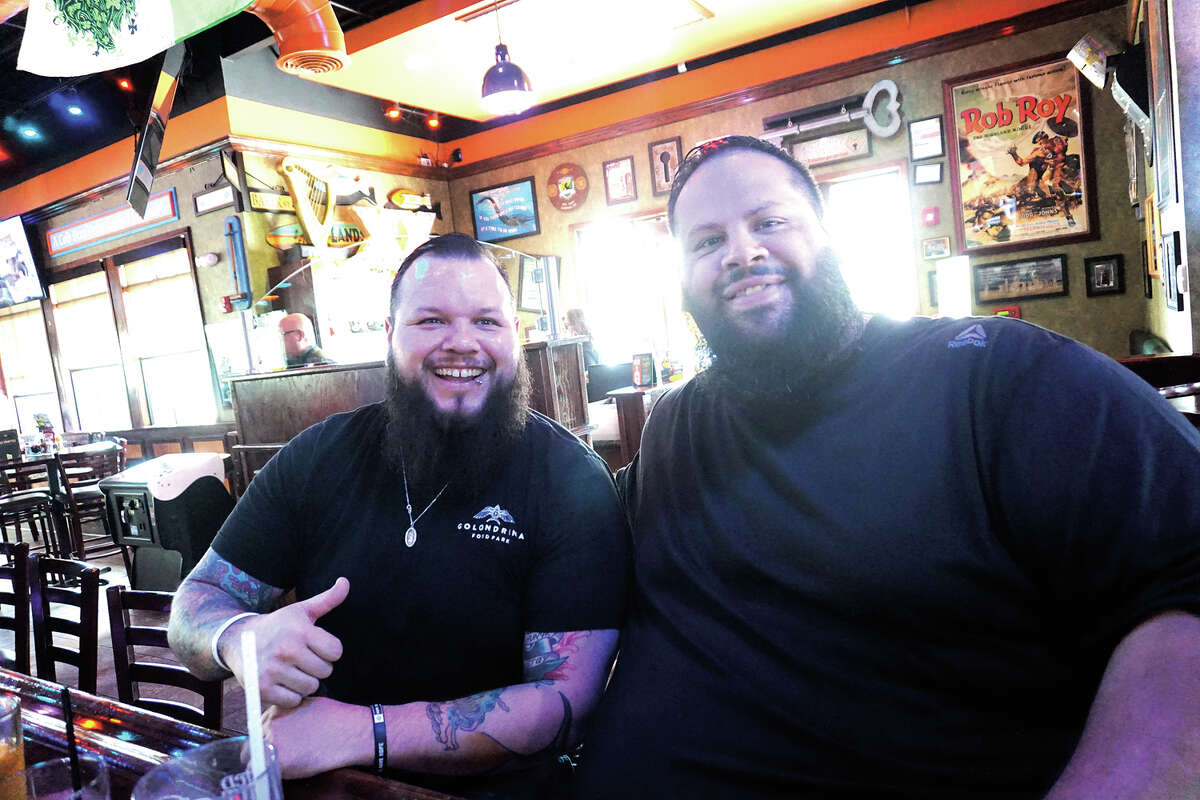Cesar Martinez and Hector Bazan at Tilted Kilt Pub & Eatery