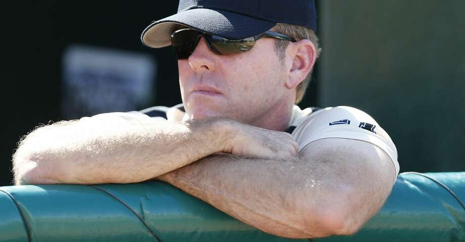 CORAL GABLES, FL - APRIL 15: Head coach Terry Rooney #26 of the Central Florida Fighting Knights watches as the Miami Hurricanes take batting practice on April 15, 2015 at Alex Rodriguez Park at Mark Light Field in Coral Gables, Florida. Miami defeated Central Florida 4-2. (Photo by Joel Auerbach/Getty Images) Photo: Joel Auerbach/Getty Images
