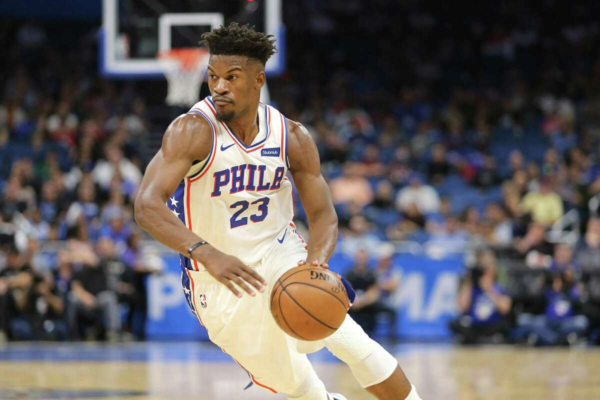 Jimmy Butler would be another star in the Rockets' orbit with James Harden and Chris Paul if Houston can pull off an attractive deal to land the free agent.
