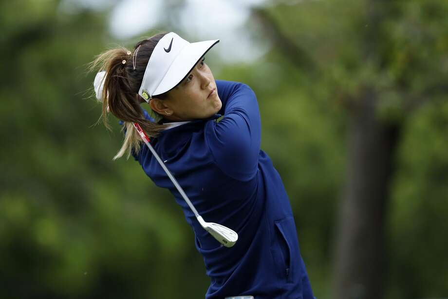 Michelle Wie hits off the 17th tee during the second round of the KPMG Women's PGA Championship golf tournament, Friday, June 21, 2019, in Chaska, Minn. (AP Photo/Charlie Neibergall) Photo: Charlie Neibergall, Associated Press