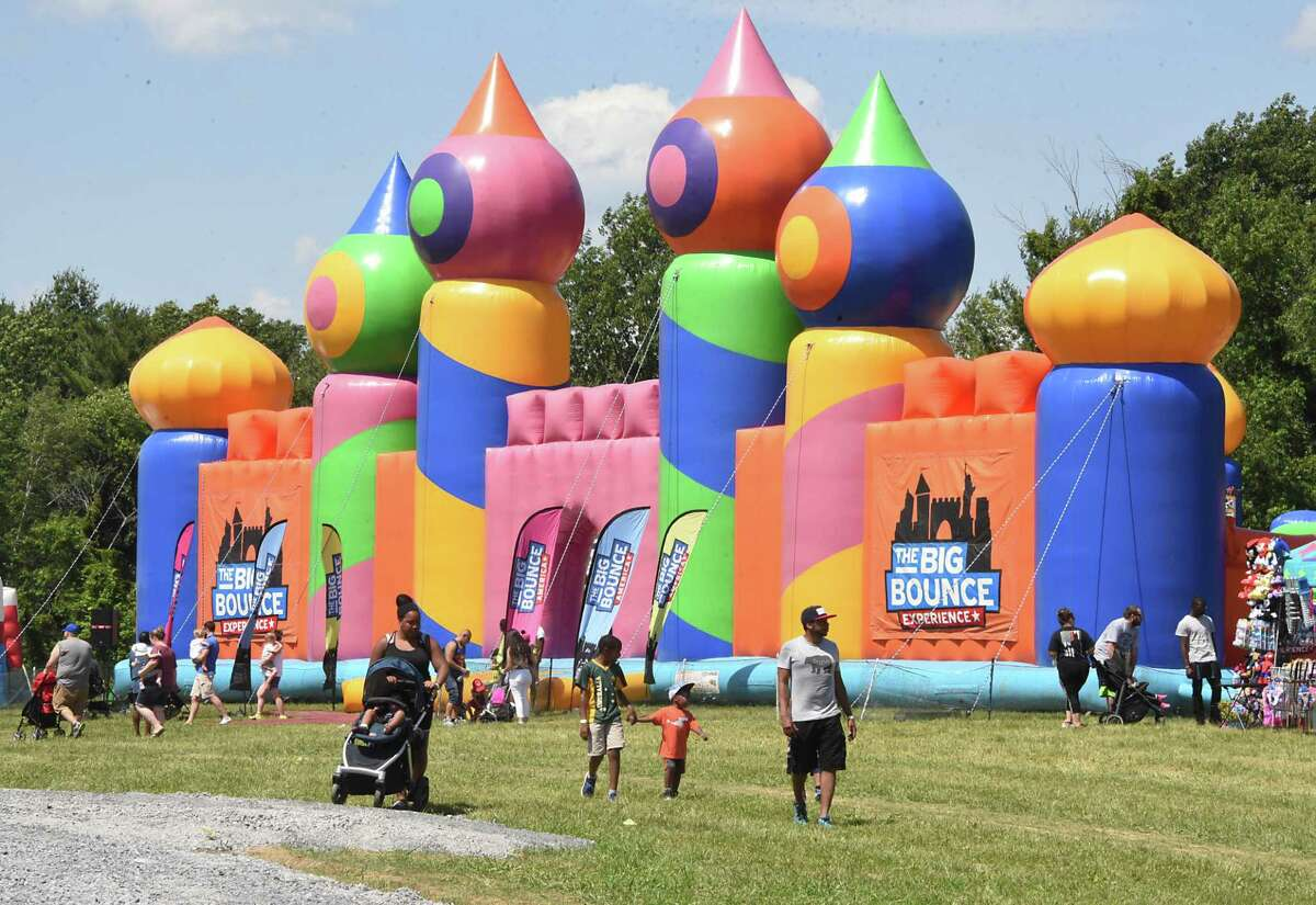The Big Bounce America's 2019 tour is held at Ellms Family Farm on Friday, June 28, 2019 in Ballston Spa, N.Y. (Lori Van Buren/Times Union)