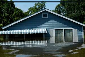 A flooded house in the north end of Beaumont on Thursday.  Photo taken Thursday 8/31/17 Ryan Pelham/The Enterprise