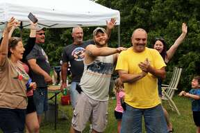 The amateur rib cook-off happened during the annual Ribstock event in Caseville. The three winners were Mike Dorosz in first place, Christopher Haymes in second and Tony Dapaldo in third.