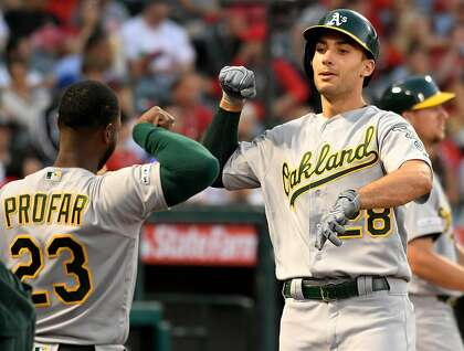 Matt Olson slams 2 homers, A's make a statement in win over Angels