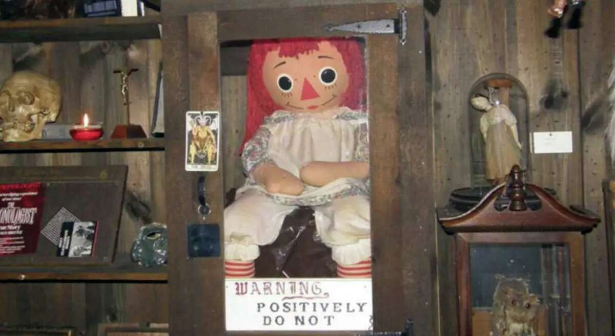 Annabelle, the Raggedy Ann doll displayed in Ed and Lorraine Warren's Occult Museum, in Monroe, Conn.