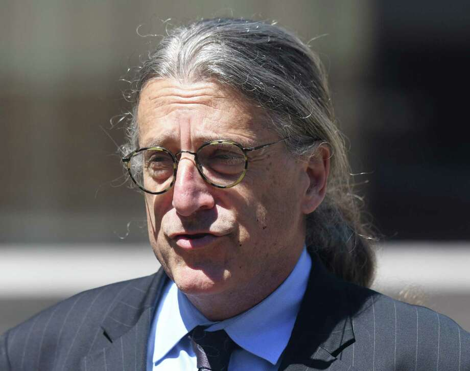 Fotis Dulos' attorney Norm Pattis speaks after making an appearance at Connecticut Superior Court in Stamford, Conn. Wednesday, June 26, 2019. Fotis Dulos appeared with his attorneys, Norm Pattis and Rich Rochlin, for a hearing Wednesday on motion by a divorce attorney for Jennifer Dulos to have Fotis Dulos and his attorneys held in contempt and for the court to impose sanctions for violating a judge's order that sealed a custody and psychological evaluation conducted on the Dulos family. Photo: Tyler Sizemore / Hearst Connecticut Media / Greenwich Time
