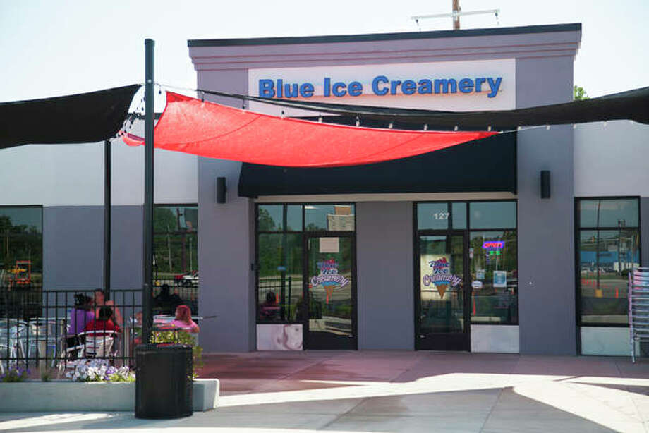 Blue Ice Creamery, a hand-dipped home made ice cream shop, was opened by Navy veteran and former U.S. Marshal Deputy Kyle Shirley in Eastgate Plaza, East Alton, this past January. Photo: By Jeanie Stephens|The Telegraph