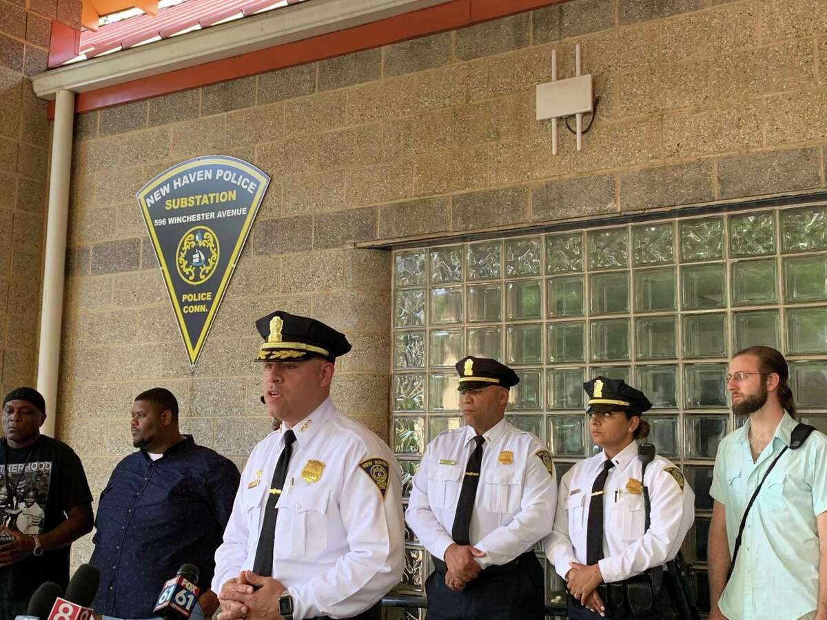 New Haven Police Chief Otoniel Reyes talks about the Friday night shooting of an 8-year-old boy during a press conference on Saturday, June 29, 2019.