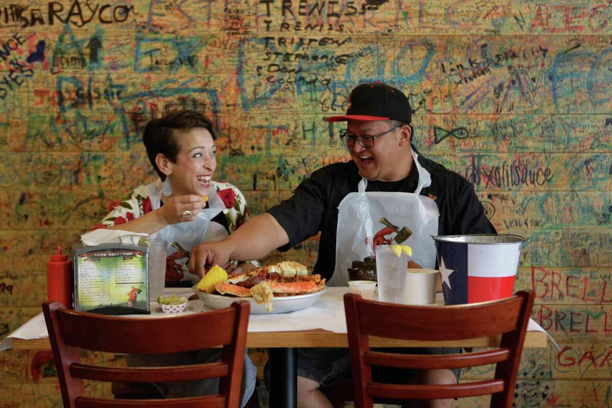 Autumn Perry-Sevilla and Daniel Sevilla are co-owners and general managers of Smashin Crab, which won the best seafood restaurant award in the Readers' Choice contest.