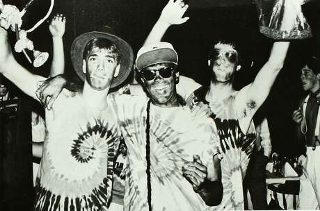 From the 1988 Rice University yearbook: Students in blackface.